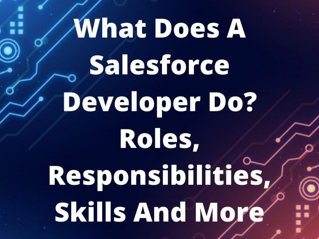 What Does A Salesforce Developer Do? Roles, Responsibilities, Skills And More